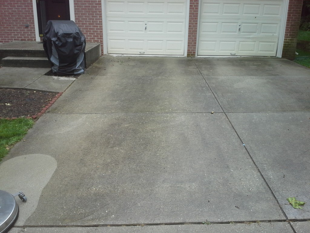 Driveway Before Power Wash